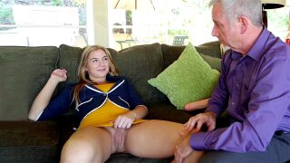 Babysitter Blair Williams getting her cunt licked and anus fingered