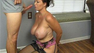 Horny Husband's Employer Gets Milf Charlee Chase To Suck His Hard Cock!