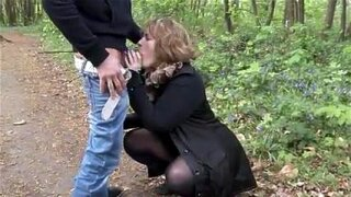 French mature sophia banged outdoor