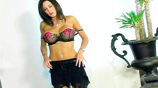 Anabelle from FlashyBabes - Black Lingerie