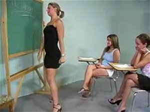 Dyke Teacher Shows Her Students Propper Technique Porn
