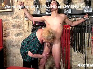 Busty Mature BBW Tortures Young Slave In The Basement Porn