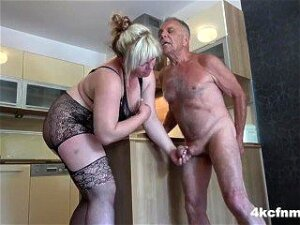 Angry BBW And Daughter Ballbusting Old Perv Porn