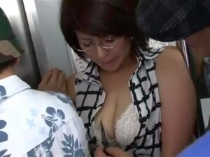 Asian MILF Gets Fucked On The Public Train Porn