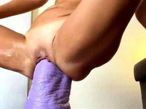 Elephant Dildo Makes Her Pussy Gush Porn