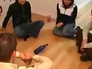 Teen Party With Strip The Bottle Sex Game On The Floor Porn