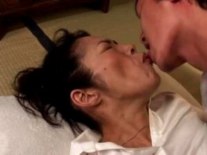Yukimura Azusa Is A Very Naughty Asian Granny Who Still Enjoys Playing With A Young Cock, Sucking And Stroking It And Getting Her Hairy Pussy Pounded Hard And Blasted With Cum Porn