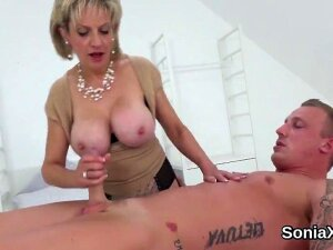 Buxom Bisexual Slutwife Lady Sonia Strokes Her Monster Puppies And Finger Fucks Narrowed Cunt In Underwear Porn