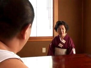 Sakamoto Toshiko It's A Hot Mature Asian Granny With A Chubby Body Who Still Enjoys Sex With Younger Guys, Sucking Their Cocks And Getting Her Pussy And Ass Fucked By Them Porn