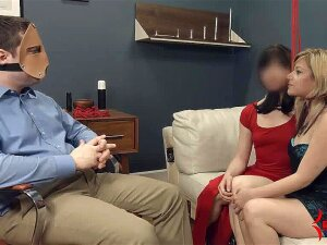 Two Smoking Hot Babes Get Enslaved And Tied Up By A Crazy Guy With A Mask On His Face, And Experience Really Tough BDSM Sex, Getting Humiliated And Banged In All Positions Porn