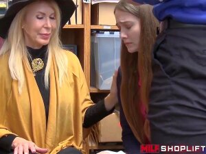 Breasty Blond Mother I'd Like To Fuck Thief Erica Lauren Busted With Her Stepdaughter Samantha Hayes And Hard Doggy Style Drilled By A Security Officer. Porn