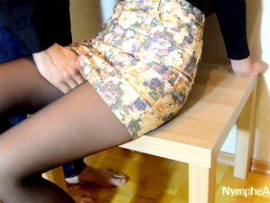A Girl In A Skirt And Pantyhose Gave Herself To A Guy Porn