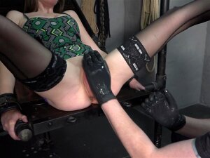 Pussy Pump And Fisting. Skinny Girl Is Fisted Porn