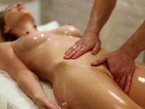 Sensual Massage For Beautiful Blonde With Hairy Pussy. Porn