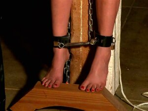 The Dungeon Dominatrix Ties Her Pet Up In Tight Bondage To Be Whipped With A Single Tail, Flogged, Have Her Nipples Tormented And Fingered With Her Latex Gloves To Orgasm Porn