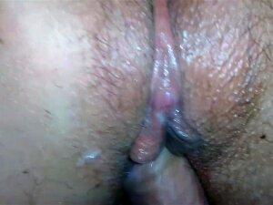 Close Up Cameltoe Creamy Pussy Fuck & Creampie. Large Labia Spread SloMo Porn