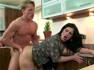 Curvy Spanish Lady Helps Out In The Kitchen Porn