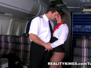 MonsterCurves - More Of Mischa. While Mischa Was Doing Her Duties As The New Flight Attendant For RK Airways, Her Captain Came To Check Up On Her. He Was Checking Her Out More Than Anything Else. He Made It Clear Real Quick That He Was In Charge, And He Liked Close Relations With His Crew Especially The Girls With Big Asses. Mischa Was A Little Shy And Off Set At First. Once He Started Rubbing Her Ass And Between Her Legs, She Melted And Gave In. She Wanted To Make Her Captain Happy, So She Did Everything. You Could Hear Her Wetness As Her Big Ass And Pussy Bounced Off His Face. She Did The Same To His Cock Until He Made Another Mess For Her To Clean Up. Porn
