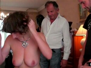 French Milf Alizee Double Penetrated In Stockings Porn