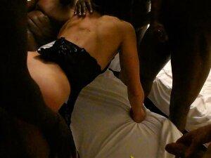 FRENCH BBC  CUCKOLD GANG BANG AT THE HOTEL Porn