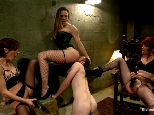 What If You Were Used As Nothing More Than A Cock And Balls To Mercifully Milk To The Final And Last Drop Day After Day After Day After Day? That Is Exactly What Jesse Carl Is To Three Of The Sexiest Femdoms In History! Maitresse Madeline, Mistress Gia Dimarco And Mistress Chanel Preston Keep Jesse Locked Away In A Dark Pit And Bring Him Out Once A Day Until He Fills Their Rusty Bucket With Cum. Sure, This Sounds Like Every Mans Dream Come True But These Femdoms Are Brutal, Wicked And So Sexy That It Turns Into Torture And He Can't Be Milked Anymore! They Use The 100 Mile An Hour Flesh Light Fucksall And Jesse Looses His Load Inside. Whatever!!!! They Just Milk Him More! Lots Of Ass And Pussy Worship, Strap-on Anal And A Prostate Milking That Results In Multiple Orgasms Straight From The Male G-spot Then Right Back In His Locked Pit He Goes.......... Until Tomorrow! Porn