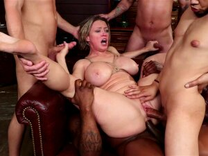 Adult Education Teacher Dee Williams Has Had It With Her Students' Lewd And Rude Comments! She Tells Them To Leave If They Are Not Here To Learn, But Her Students Have Something Else On The Mind Besides Schoolwork. They Surround Her, Grab Her By The Throat, And Rip Off Her Clothes, Revealing Her Huge Tits. Dee Struggles To Get Away, But Is Over-powered, Stripped, And Put On Her Knees. She Gasps As Her Students Feel Her Up, Grab Her Big Tits, And Smack Her Cute Ass. Suddenly She Has A Cock In Her Mouth And Two More In Her Hands. Dee Gags On Their Cocks As They Take Turns Fucking Her Face. Drool Leaks Out Of Her Mouth, Down Her Face And On Her Tits. Then They Hog Tie Her And Throw Her Over A Desk. Unable To Move, Dee Has No Choice But To Continue Sucking Their Hard Fat Cocks. She Gets Sloppier And Sloppier With Each Cock And Finally Two Students Shove Both Their Cocks In Her Mouth At The Same Time. Eager To See What Her Other Holes Can Take, Dee's Students String Her Up. Suspended From The Ceiling In Rope, Dee Takes A Cock In Each End. She Slides Down On The Dick In Her Cunt Before Sliding Down On The Cock In Her Sloppy Mouth. The Students Always Suspected Their Hot Teacher Would Make A Good Fuck Sleeve And Dee Proves Them Right. They Take Turns Fucking Her From Both Ends As Dee Squeals Between Them. Her Cries Are Muffled By The Cocks Fucking Her Mouth. Dee Is Horrified But Excited. All This Fucking Is Turning Her On And Dee Goes From A Proper School Teacher To A Horny Greedy Cock Slut. Next, Dee Gets Stuffed Airtight As Her Students Fill All Her Holes. Dee Loves Being Full Of Cock And Her Students Love Fucking Her. They Fuck Her Holes Wide Open And Soon Dee Is Prolapsing As She Orgasms. Laughing, The Students Continue Pounding Her Cunt And Asshole. They Trade Off Stuffing Her Holes As Dee Orgasms Over And Over Again On Their Cocks. Finally, Dee Gets On Her Knees And Takes Load After Load Of Cum All Over Her Face. Cum Covered, Dee Jerks Off As She Awaits Her Last Load