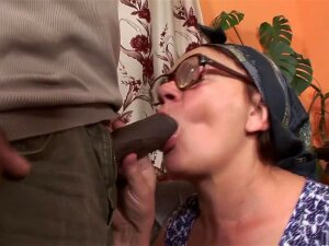 Fabulous Pornstar In Hottest Interracial, Facial Porn Scene, Here, You'll See This Horny Grannie, Feeling Her Husband's Limp Dick, As She Tells Him She's Going To Go Outside And Fuck The First Guy She Sees. Sure Enough, She Brings In A Black Dude Who Is More Than Happy To Take Off Her Bra And Panties Before Fingering And Licking Her Hairy Muff, Until He Fucks Her Good And Ends Up Giving Her A Blinding Interracial Facial. Porn