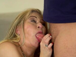 Chubby Grandma Makes His Young Dick Cum In Her Mouth Porn