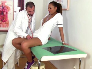 Hot Nurse Falls Victim To The Doctor's Merciless Cock Porn