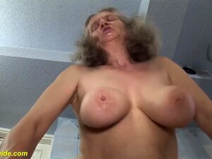 Extreme Horny Big Natural Breast 83 Years Old Grandma Gets Rough Tit Fucked At The Bathroom By Her Horny Stepson Porn