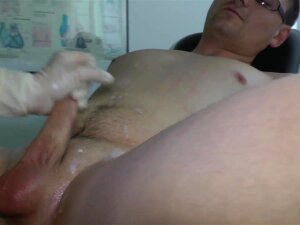 Doctor Gives Prostate Handjob With White Latex Gloves Porn