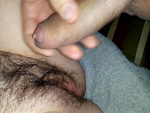Jerking Off And Cum On Hairy Pussy Porn