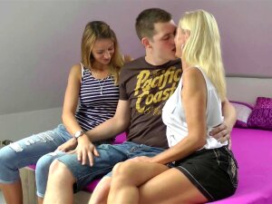 Young Boy's First Threesome! Big Cock Meets MILF! Porn