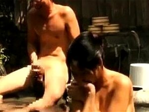 Japanese Asian Couple Fucks In Mixed Public Bath Porn