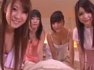 Giggly Asian School Girls Share A Nice Cock Porn