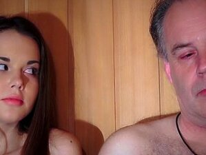 Lucky Old Guy Fucks Sweetie In The Sauna Porn