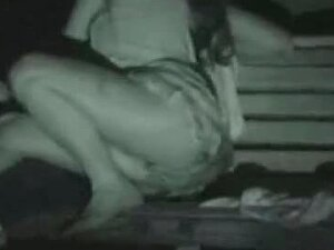 Hidden Camera Uses Night Vision To Film A Couple Fucking Porn