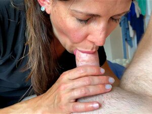 Milf Almost Gets Caught Sucking My Cock By Her Mom Right As I Cum POV. Still Swallows It Porn