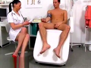 Stud Is Naked At The Doctors And Lets The Nurse Stroke Him Porn