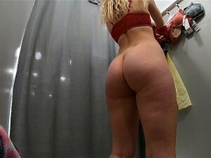Sexy Schoolgirl Tries On Swimsuits In The Locker Room Of The Store. Porn