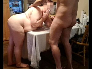 Hardcore BBW MILF Doggy Style Fuck On The Kitchen Table Loud Orgasm. Porn