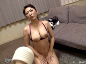 Strong Inches For A Busty Japanese Mature Porn