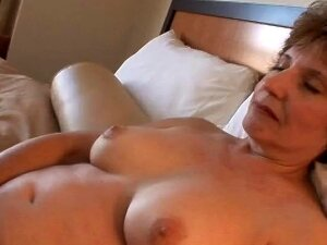 Well Aged Shaved Pussy Swallows His Dick In A Hotel Room Porn