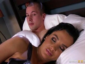 Jessy And His Stepmom Lisa Ann Are Away From Home Checking Out Colleges, But When Their Hotel Room For The Night Only Has One Bed, They Have No Choice But To Climb In Together. Once He Thinks She's Turned In For The Night, Jessy Tries To Have A Nice Quiet Jerk Session Before Bed, But Lisa Wakes Up With The Same Thought In Mind! She Takes One Look At That Fat Cock And Knows She Has To Get A Piece, Stroking It Nice And Slow To Get That Cock Hard. Jessy Eats That MILF Pussy Until It's Ready To Fuck, Then Lisa Climbs Up And Rides That Cock Until He Blows A Load All Over Her Face And Big Tits! Porn