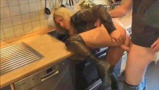 Gorgeous housewife shagged hard
