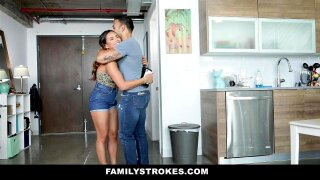 FamilyStrokes - Hot Teen Blows Her Stepdads Cock
