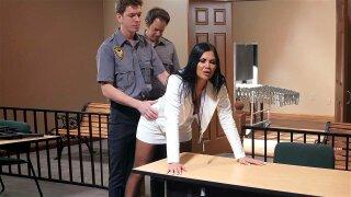 Cop Markus Dupree found the butt toy in Jasmine Jae's ass