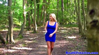 Gotta give it to her, walking off into the woods just to cheat on the hubby is far more original than expected from such a bimbo. Then again she won't stay this fit without her regular shag!