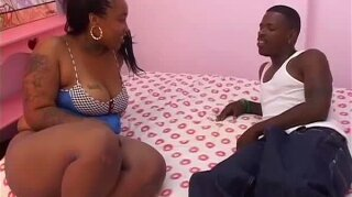 Extra Thick Black Mama Fucks Skinny Little Chaser
