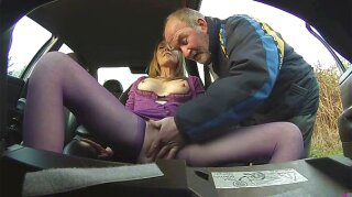 Sex with mature in car